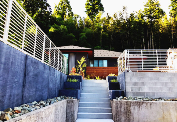 階段のある家